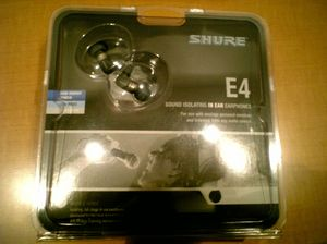 SHURE E4 パッケージ